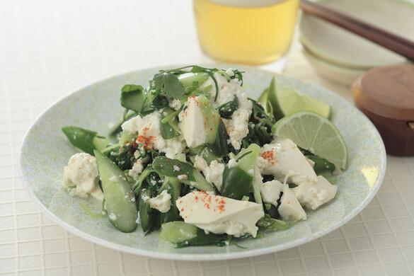 豆腐のピリ辛サラダ