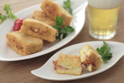 高野豆腐のハムチーズカツ