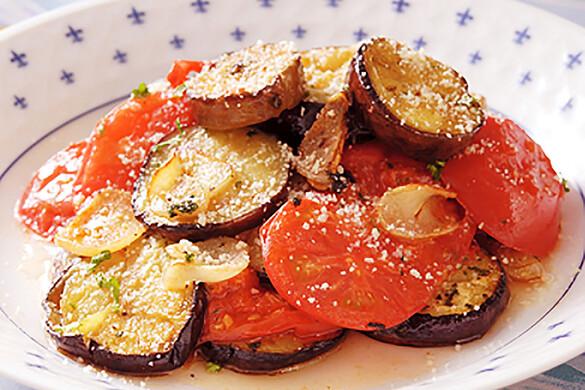 ナスとトマトのイタリア風