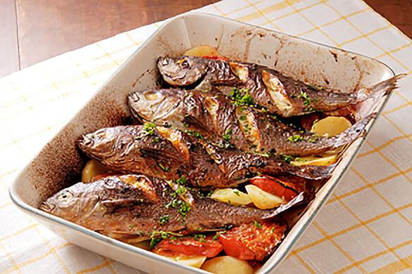 イサキとポテトのオーブン焼き