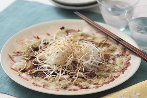タコの中華風カルパッチョ