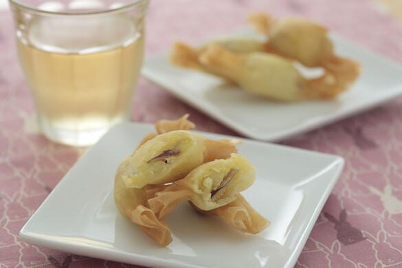 サツマイモのプチデザート春巻き