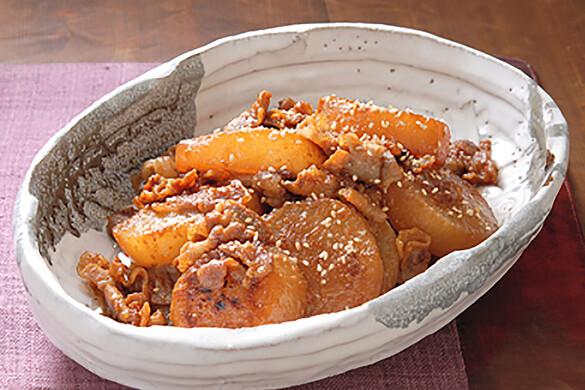 大根と豚肉のこっくり煮