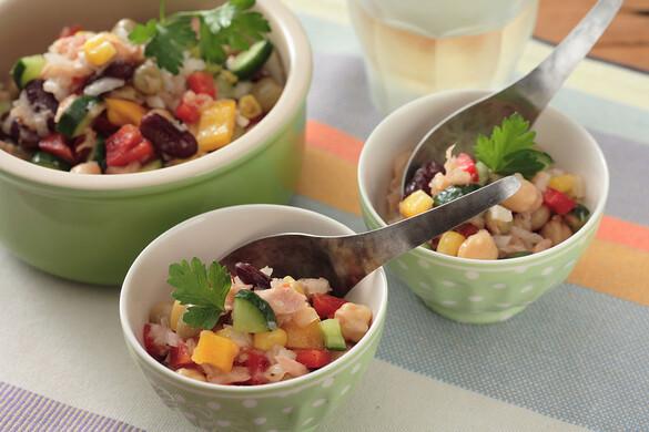 ツナとお豆のサラダ