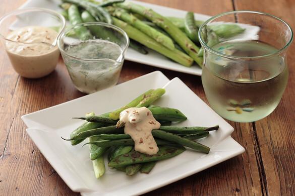 緑の焼き野菜