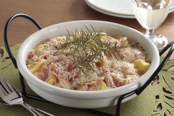 サーモンとポテトのチーズ焼き ローズマリー風味