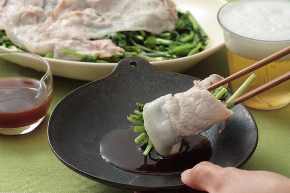 香味野菜の豚ロースのせ蒸し