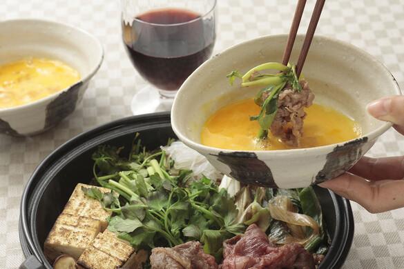 セリと牛肉のすき煮風