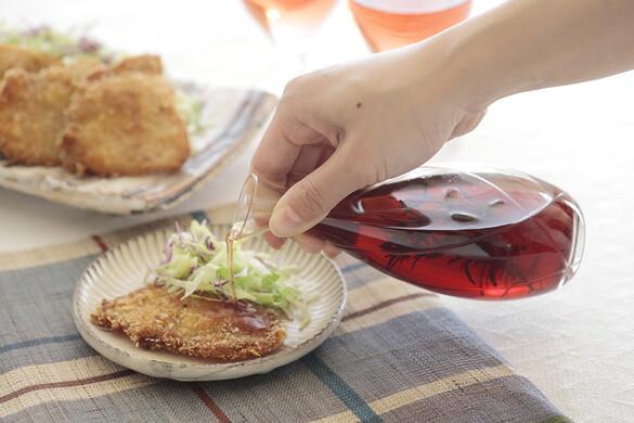 ローズマリービネガーで食べる一口カツ