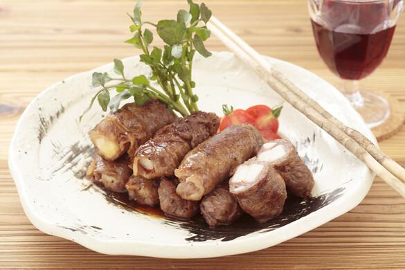 長芋の牛肉ロール焼き〜バターしょうゆソース〜