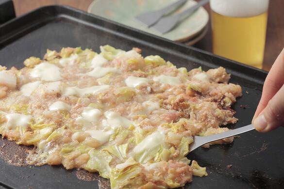 東京:明太餅もんじゃ焼き