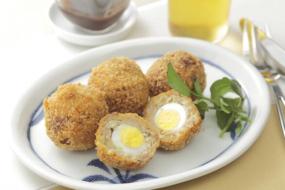たっぷりキャベツと卵の一口メンチカツ