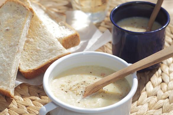 残り野菜のポタージュスープ&バゲット