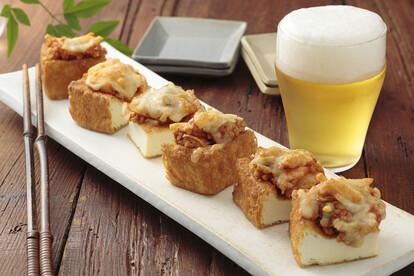 厚揚げ納豆のチーズキムチ