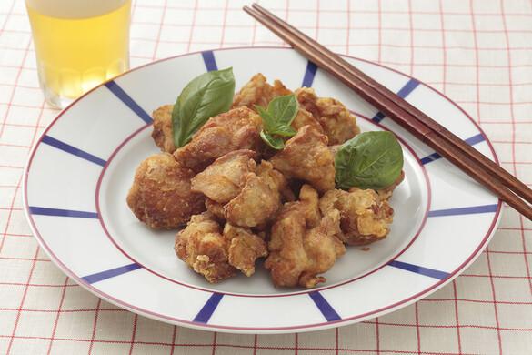 鶏の塩麹マリネから揚げ バジル風味