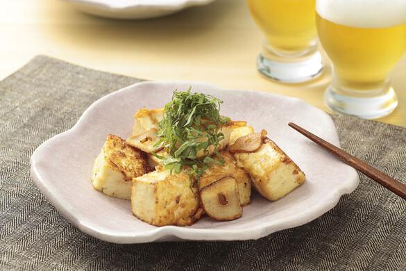 豆腐のコロコロガーリックステーキ