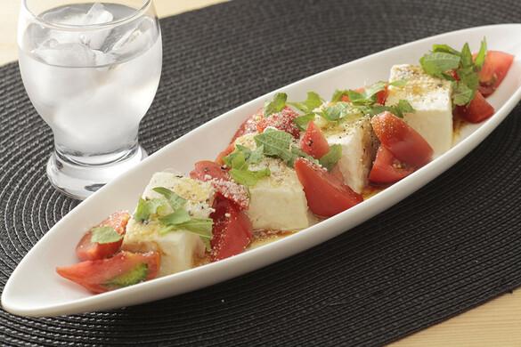 トマトと豆腐の和風カプレーゼ