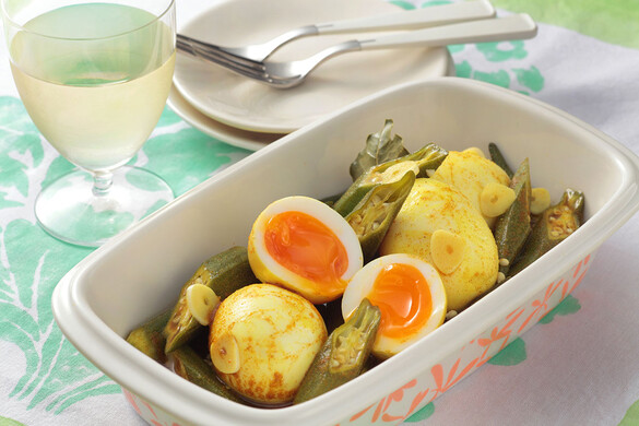 カレー酢漬け卵