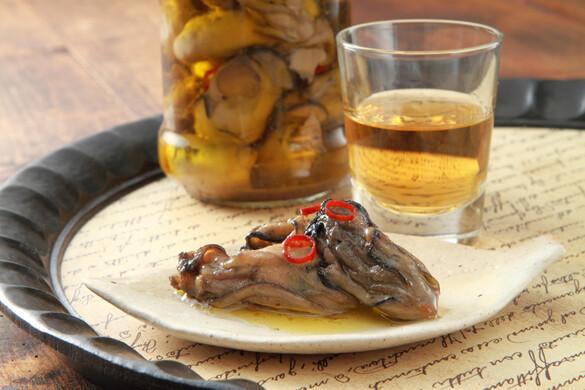 牡蠣のオイル漬け <びん詰め冷蔵保存食>
