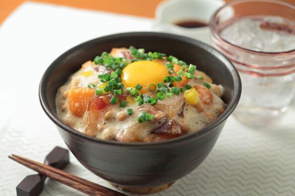 ふわネバ海鮮納豆丼