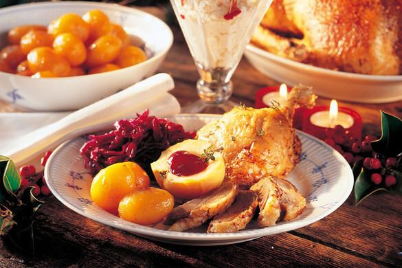鴨のロースト〜赤キャベツ、2種類のポテト、グレイビーソース添え〜