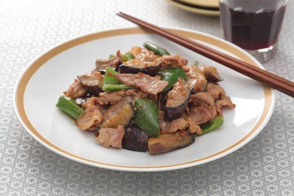 豚肉とナスとピーマンの味噌炒め