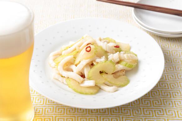 簡単イカとセロリの塩炒め〜簡単3stepおつまみ〜