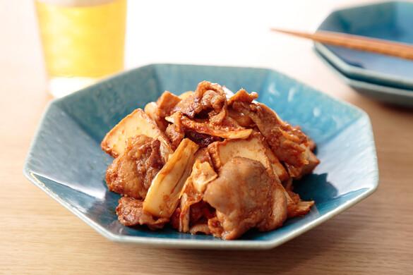 豚味噌キムチ炒め〜簡単3stepおつまみ〜