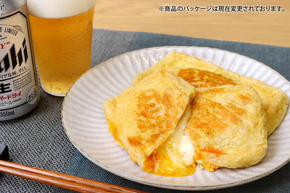 油揚げのベーコン卵チーズ