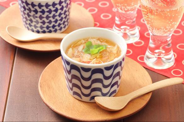 蟹あんかけ茶碗蒸し