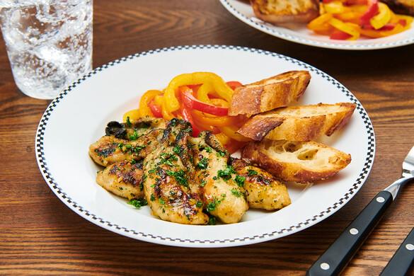 牡蠣のガーリックハーブバターソテー