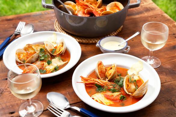 ブイヤベース風魚介のスープ