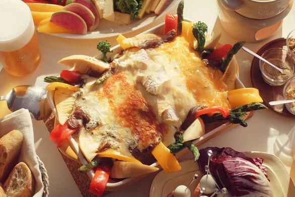 春野菜と4種のチーズ焼きカレー