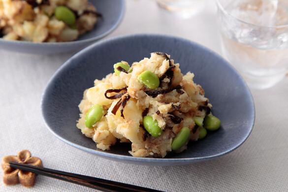 枝豆と塩昆布のポテトサラダ
