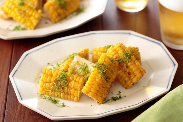 トウモロコシの青のり塩バター焼き〜簡単3stepおつまみ〜