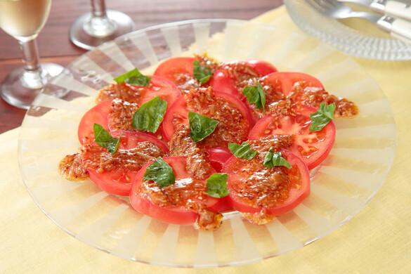 トマトのカルパッチョサラダ〜簡単3stepおつまみ〜