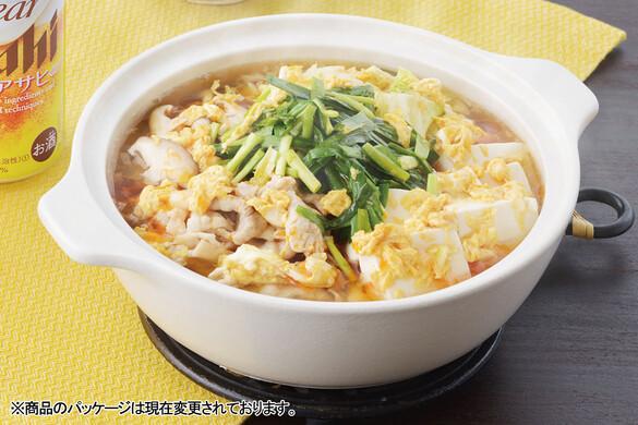 ふわとろ卵の簡単サンラー鍋