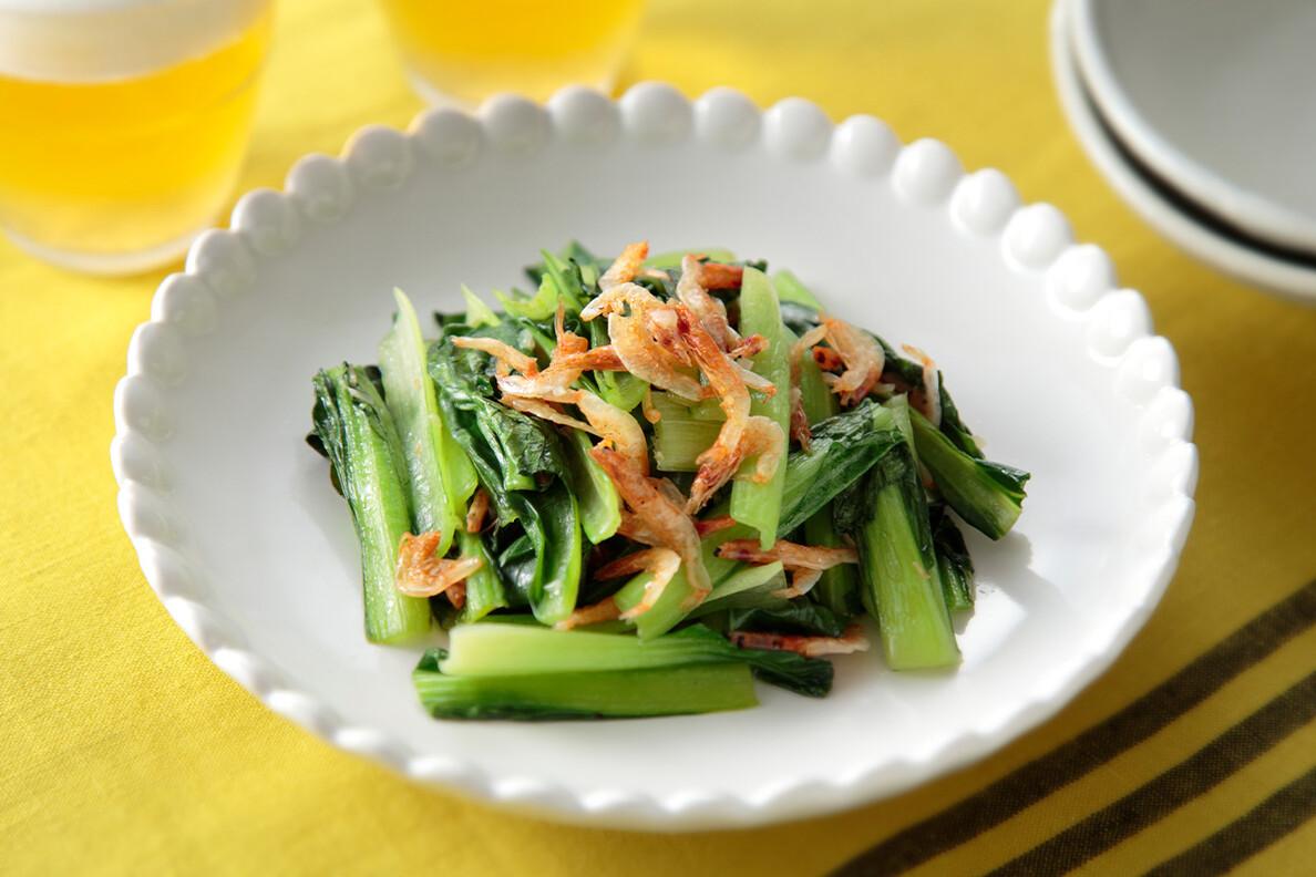 小松菜と桜エビのナンプラー炒め