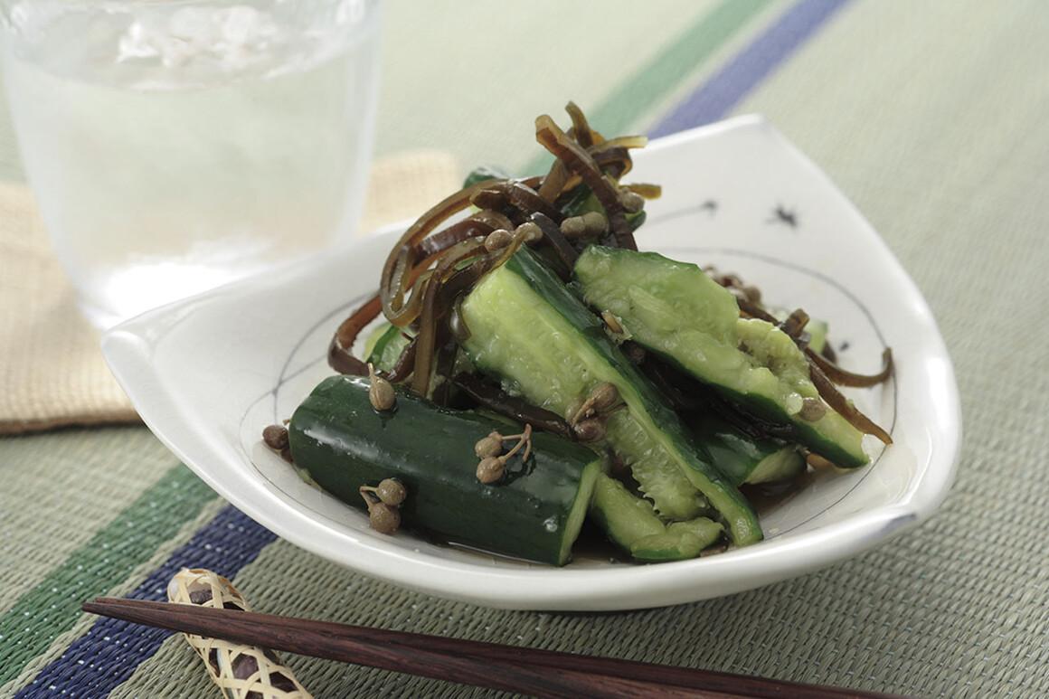 山椒キュウリの簡単お漬け物