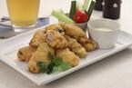 牡蠣の生ハム巻きフリッター
