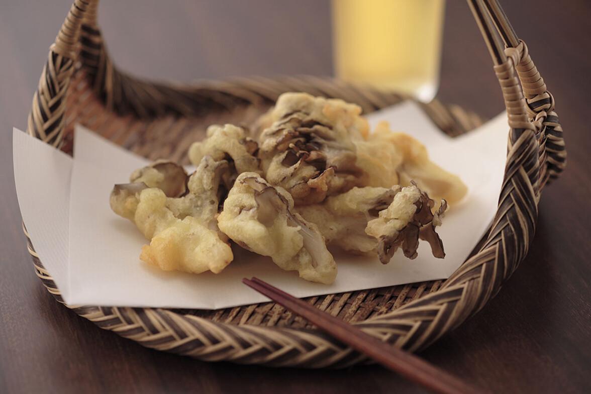 マイタケの味噌天ぷら