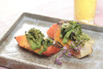 鮭と菜の花の菜種焼き