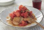 トマトと鶏もも肉のオイスター炒め