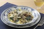 ホウレンソウと牡蠣のクリームパスタ