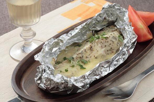 鱈のチーズ蒸し