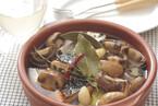 マッシュルームと鮭のオイル煮
