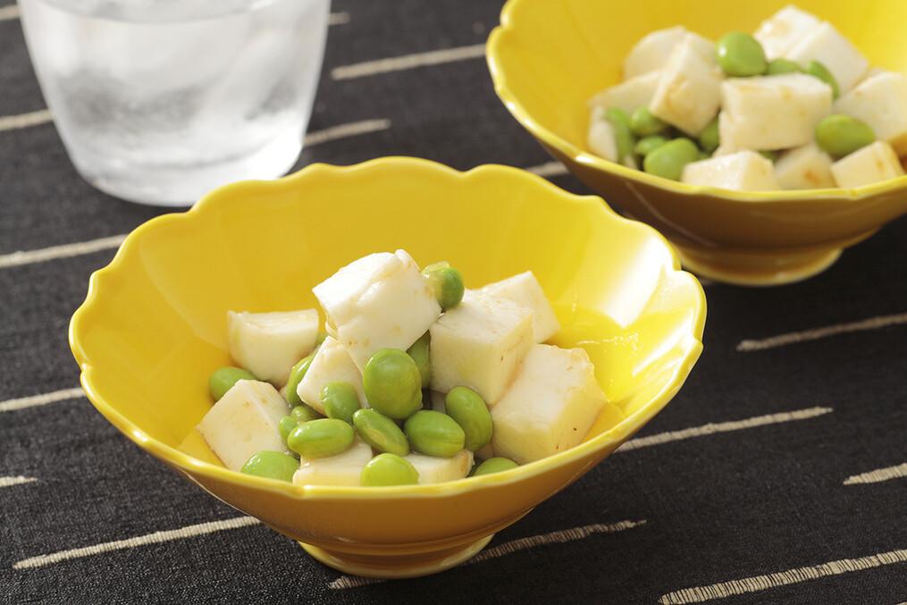 枝豆とはんぺんの梅肉和え