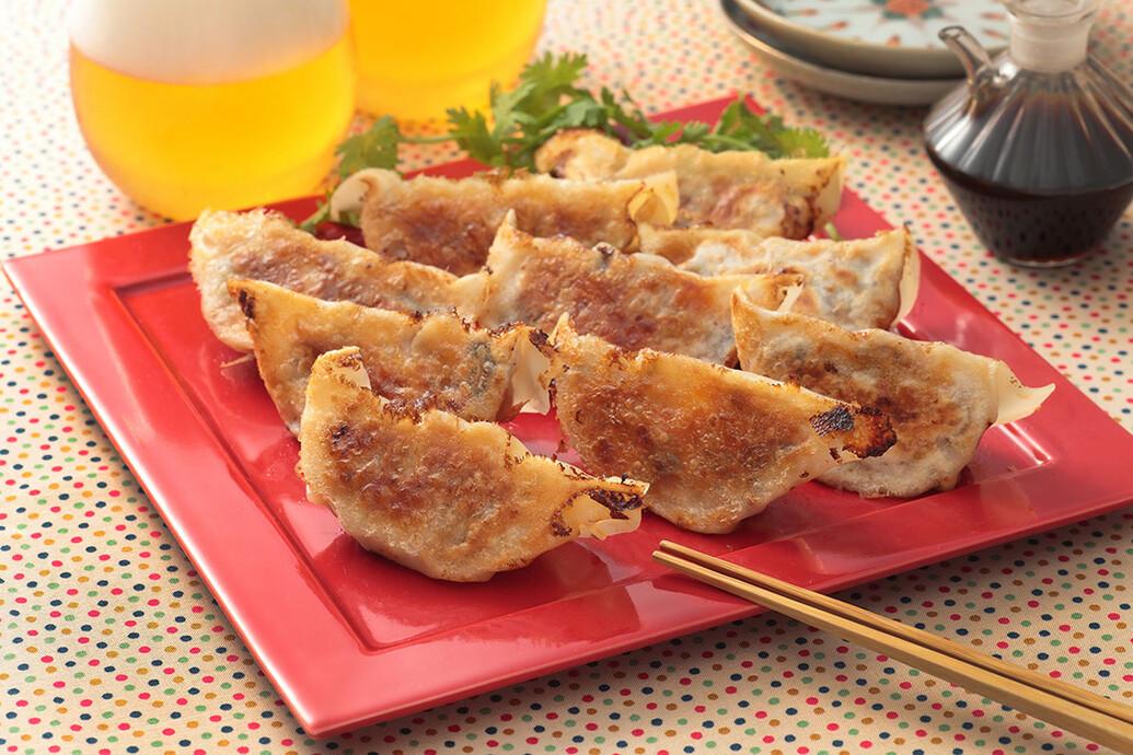 ナスキムチーズ餃子
