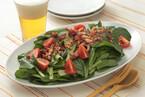 小松菜のサラダカリカリベーコンドレッシング