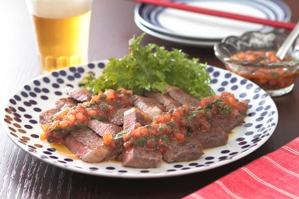 牛ステーキ〜和風フレッシュトマトソース〜